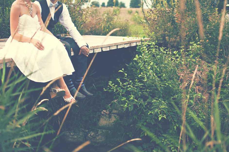 Mladoženja i mlada na mostu