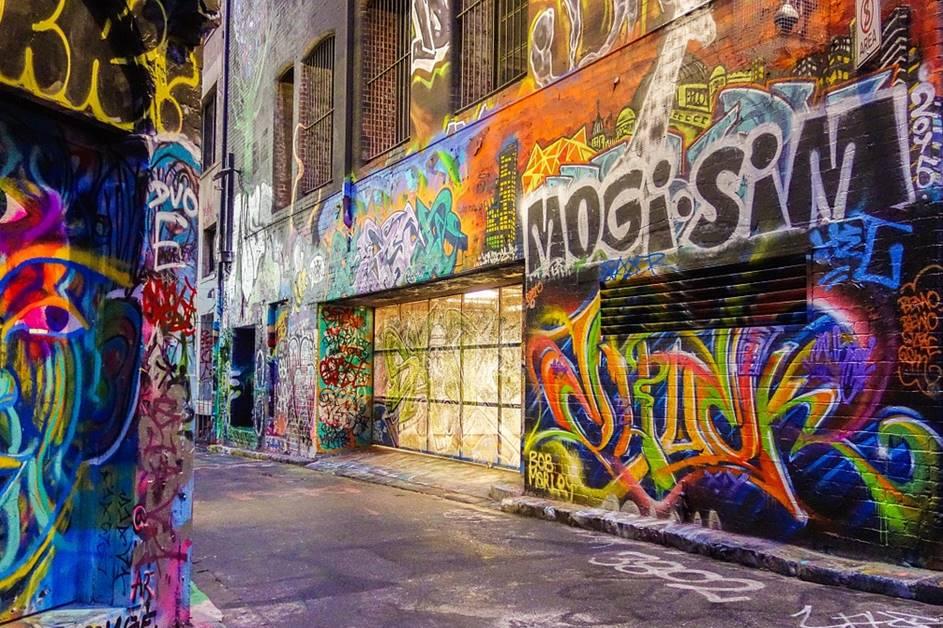 Ulična umetnost na zidu